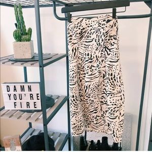 H&m Leopard Print Strapless Bodycon Dress sz 4